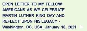 Open Letter re. Martin Luther King Day